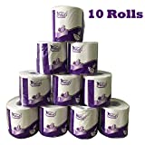 Toilet Paper 10 Rolls ETA 15 Days Ultra Soft Roll Toilet Paper White 3-Layers 120 Sheets Standard Rolls,Gentle Toilet Tissue Soft Enviro Friendly Bath Paper (Pack of 10)