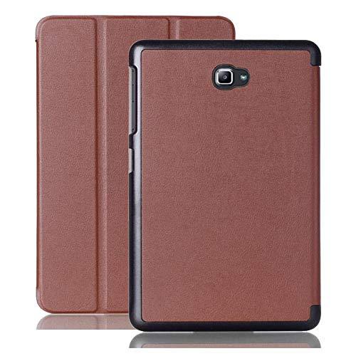 ZETIAN SM-T580 Tab A6 10.1 2016 Slim Smart Case Cover- para Samsung Galaxy Tab A 10.1 T585 T587 Tablet Book Flip Cover Case Soporte magnético-marrón_SM-T580 Pestaña A6 10
