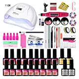 GROOMY Smart Dryer, Nail Set UV LED Lamp Dryer with Colors Gel Nail Polish Nail Drill Machine Set