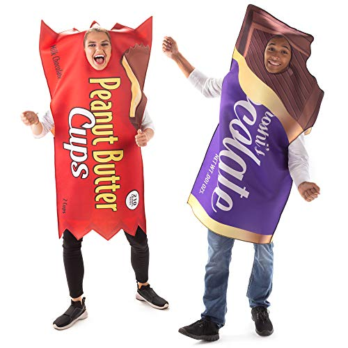 Peanut Butter Cup & Chocolate Bar Couples Costume - Funny Halloween Candy Outfit