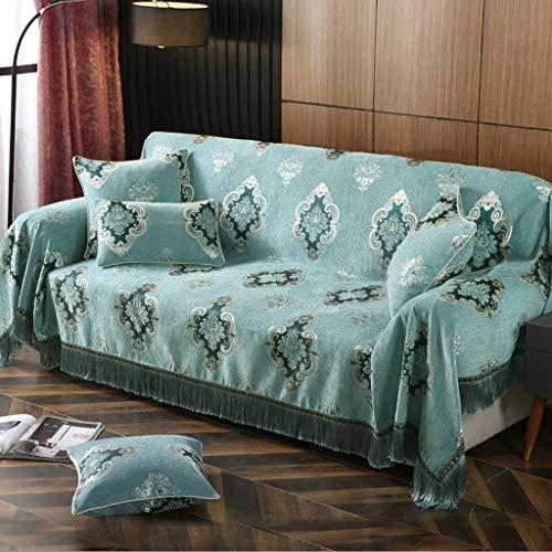 Chenillé Sofa, Housse De Canapé,Chambre Européenne Home Living Sofa Serviette, Tassel Jacquard Sofa Décoration En Tissu, Absorbant L'humidité Et Respirant, Anti-dérapant Furniture Dust Cover Cloth