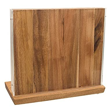 Acacia Wood Magnetic Knife Block Holder, Universal Stand Without Knives