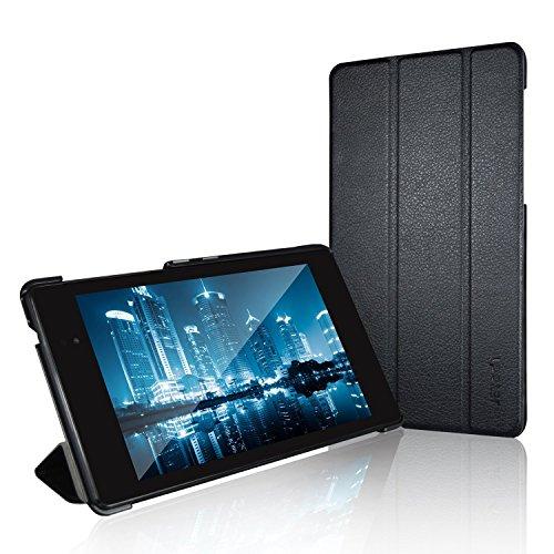 JETech Hülle Kompatibel mit Google Nexus 7 2013 Tablet, Schutzhülle mit Ständer Funktion & Auto Schlaf/Wachen, Schwarz
