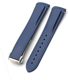 21 mm Bracelet de Montre Cuir de Buffle Marron breitdornsc déployante Horloge, Bison Bracelet Cuir