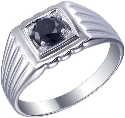 一部予約 Vir Jewels 3 4 cttw Men's Engagement Ring 新着セール Black Diamond Solitair