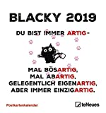 Blacky 2019 - Postkartenkalender, Sprüchekalender, Wandkalender - 16 x 17 cm