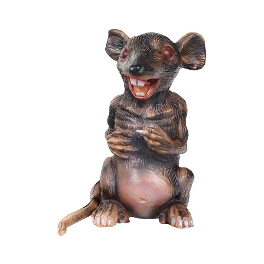 ムス望む出くわすハロウィーンの飾り、ハロウィーンジャイアントラテックス立ちラットプロップのためにハロウィーンイースターパーティーホーンテッドデコレーションマウスプロップ パーティーフェスティバル