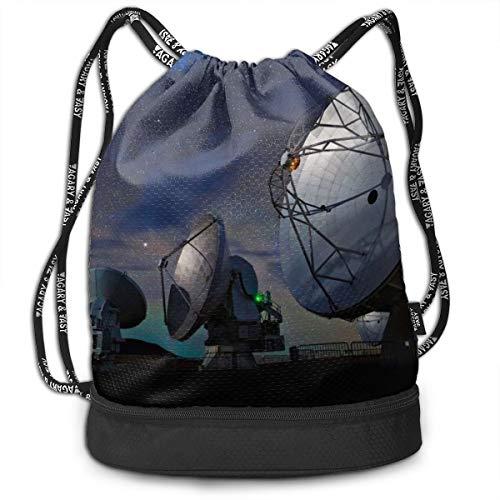 Drawstring Backpacks Bags Radar Station Sports Gym Sackpack Tote Travel Rucksack