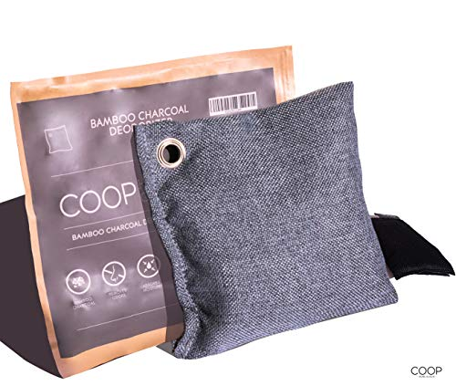 Fantastic Prices! Coop Home Goods - Natural Moso Bamboo Charcoal Air Purifying Bag 550g - Air Freshe...