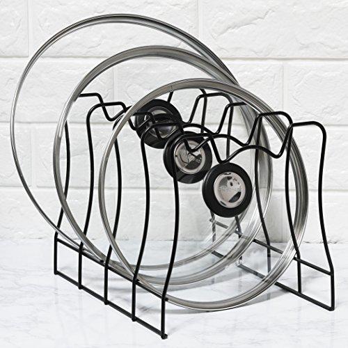 Simple Houseware SimpleHouseware Kitchen Pot Lid Rack Holder Organizer Bronze