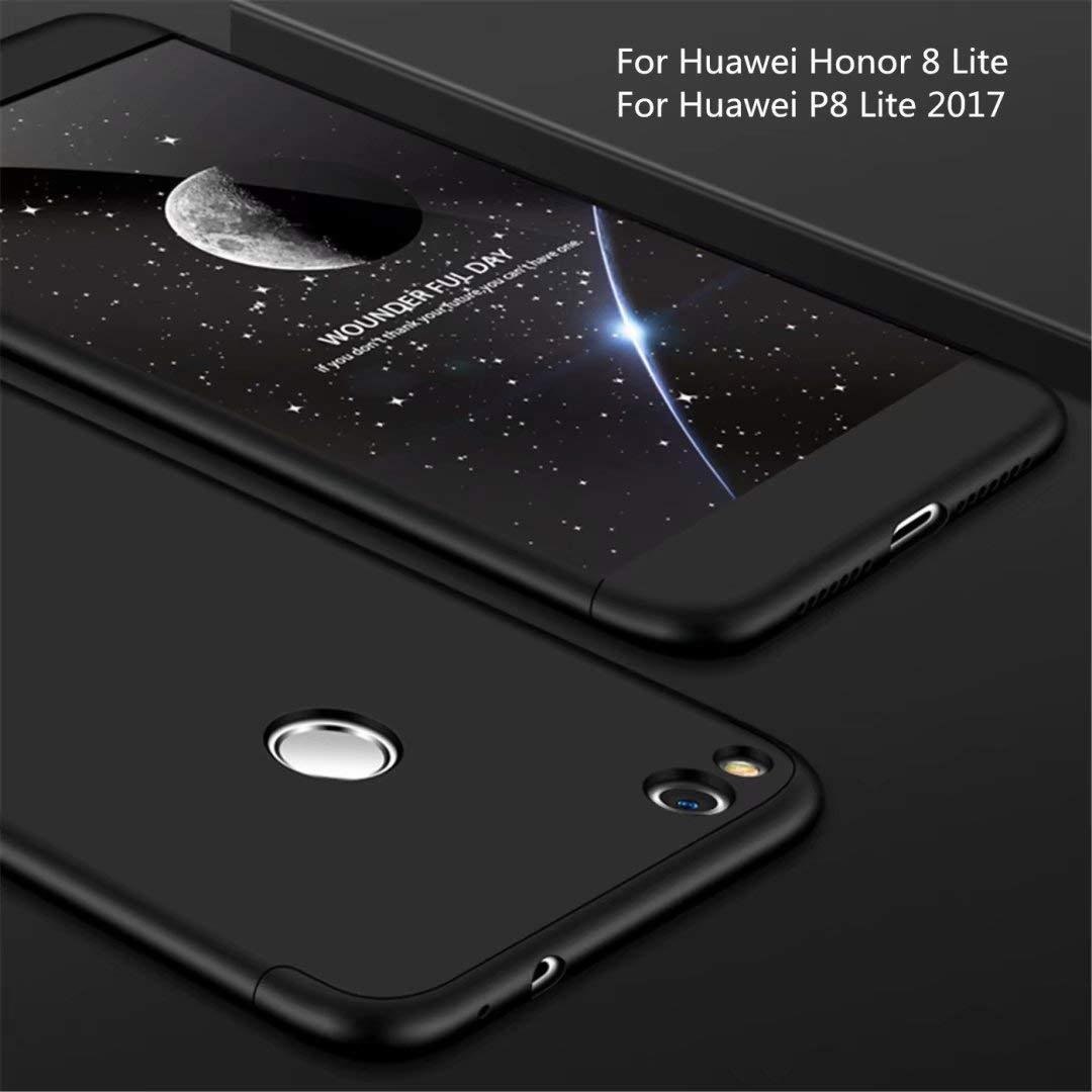 Funda Huawei P8 Lite 2017(Honor 8 Lite) 360 Grados Negro Ultra Delgado Todo Incluido Caja del teléfono de la protección 3 en 1 PC Case JOYTAG: Amazon.es: Electrónica