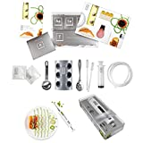 Molecular Gastronomy Kit AND Culinary Food Styling Syringe Marinade Injector - Special Double Pack