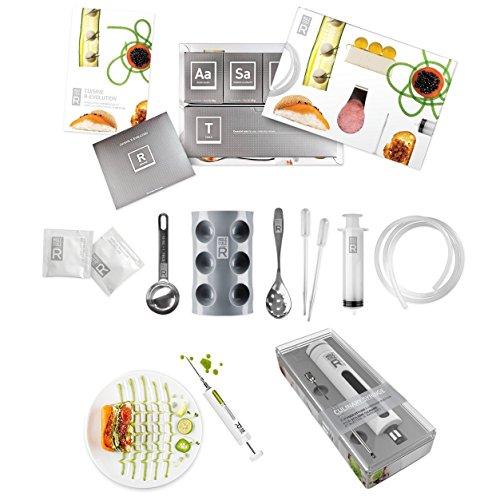 Kit básico completo de cocina molecular, set para principiantes y arte culinario, jeringa y jeringa de marinada, especial Doble pack, la Cocina creativa