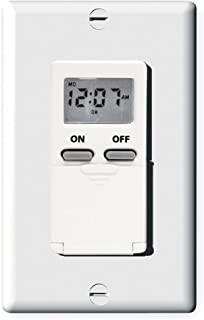 Digital Timer, 7-Day, Spst, 120 V, White