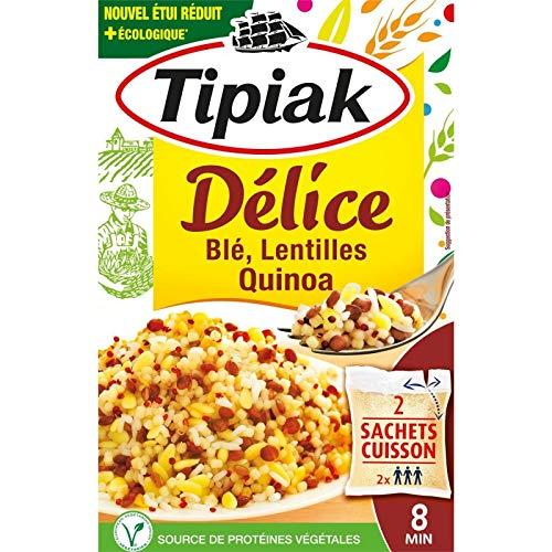 Tipiak - Délice Blé,Lentilles Quinoa - 330G - Livraison Gratuite Pour Les Commandes En France - Prix Par Unité