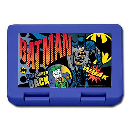 Spreadshirt Batman Et Joker Bande Dessinée Boîte À Goûter, bleu royal