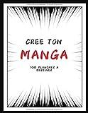 CREE TON MANGA 100 planches BD vierges: bande dessinée vierge pour adultes et enfants | Crée ton propre manga | format 21,59 x 27,94 cm