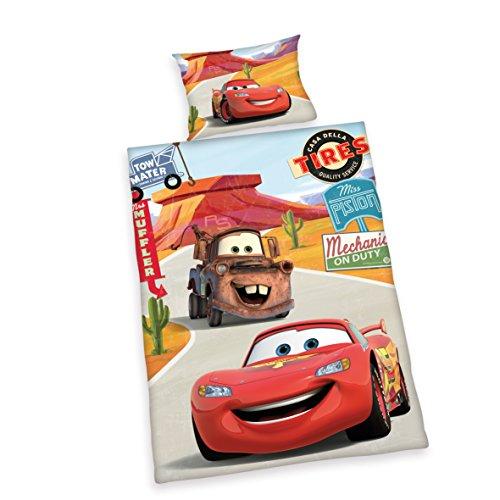 Herding Disney Cars 3 Set Di Biancheria Da Letto, Flannel, Multicolore, 100 X 135 Cm, 40 X 60 Cm