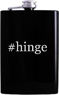 #hinge - 8oz Hashtag Hip Alcohol Drinking Flask, Black