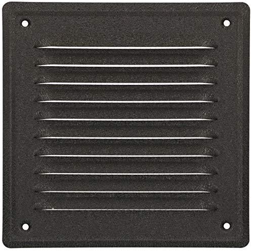 KOTARBAU® Rejilla de ventilación de 165 x 165 mm, atornillable, barnizada, para chimenea, protección contra insectos, resistente a la corrosión