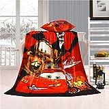 Unbekannt Cars Soft Plush Blanket Throw Flanelldecke Bettlaken Für Kinder Kinder Jungen Geburtstagsgeschenk 150x200cm (59x79inche Mc Queen-04