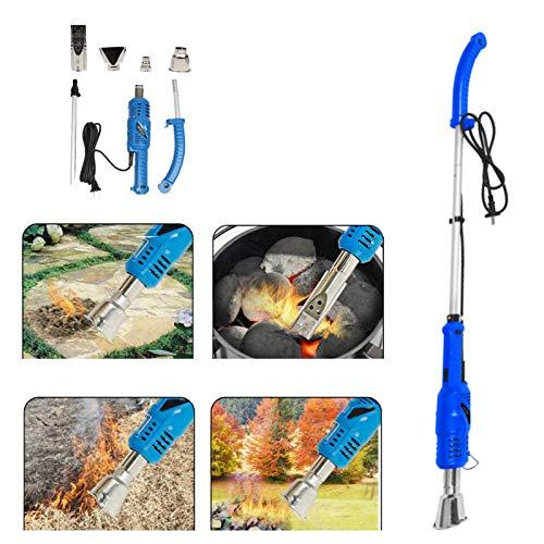 PowerTools Unkrautbrenner Elektrisch, 2000W Gartenwerkzeug, Elektrischer Unkrautvernichter mit 4 Düsen und 3m Kabel, Umweltfreundlich OHNE Gas oder Flammer, für Garten, Terrasse, Auffahrt