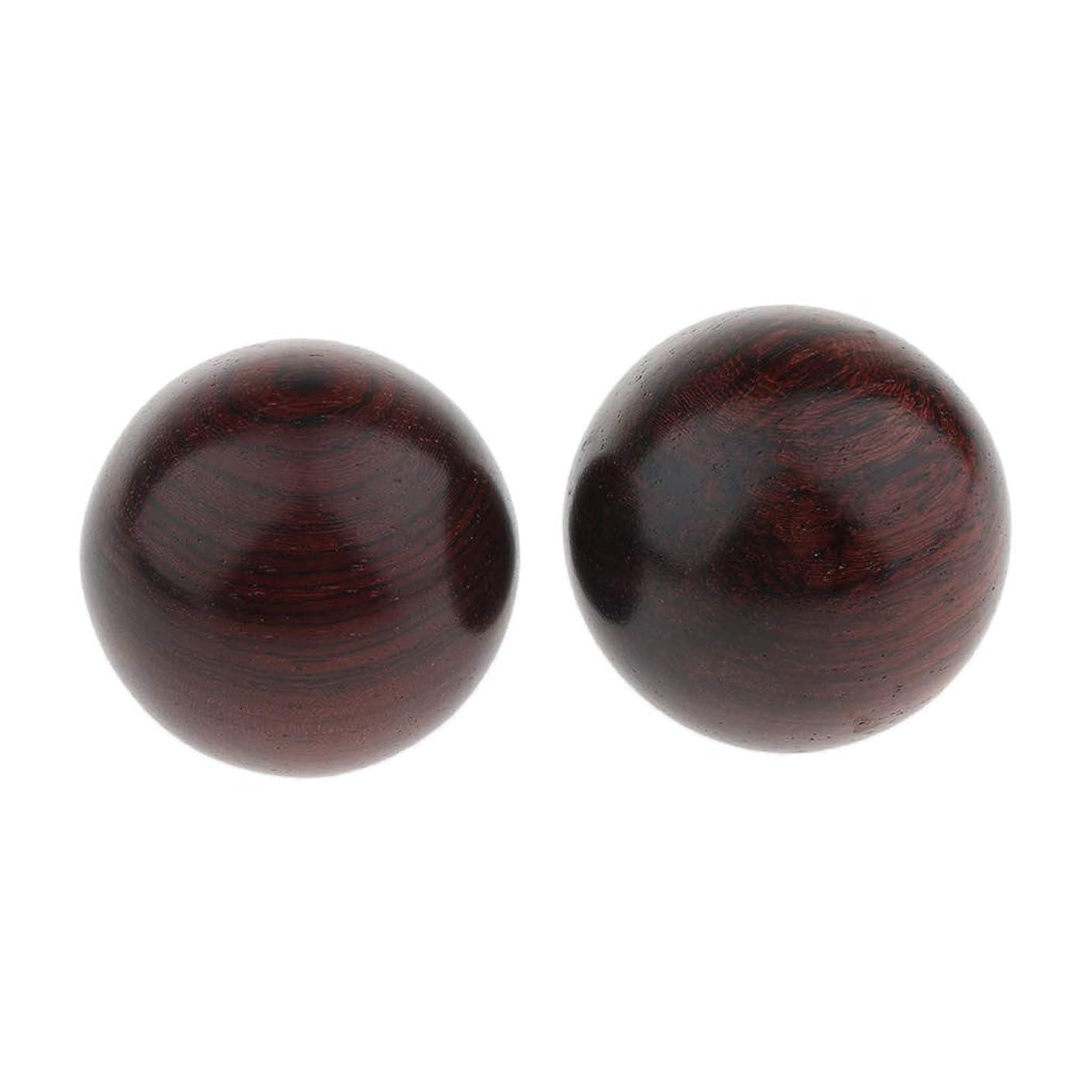 二十忌み嫌う上げるBaoblaze 2個 木製ボール マッサージボール ツボ押し 手の動き 3サイズ選べ - 4.5cm, 説明のとおり
