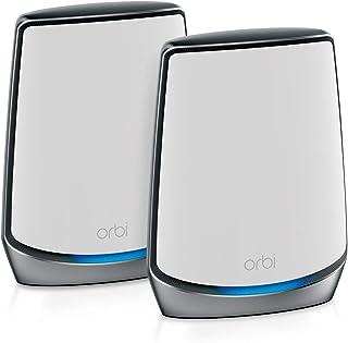Netgear Orbi RBK852 - Sistema Mesh Wi-Fi TriBanda 6 AX6000, Cobertura de hasta 350 m² y 60 Dispositivos, Kit de 2, con 1 R...