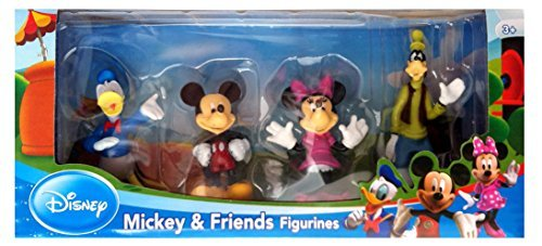 Beverly Hills Teddy Bear Company Disney Mickey and Friends Toy Figure Playset, 4-Piece