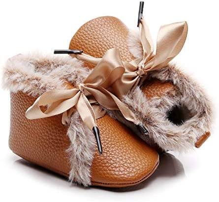 Bebila Winter Toddler Snow Boots Lace up Baby Girls Boys Shoes Lace up Non Skid Soft Sole Slippers product image