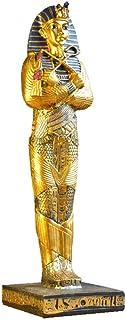エジプトの神の像、エジプトの王国の置物Statueegyptバストの像古代エジプトエジプトの神 8.3*9.5*29.5cm,A