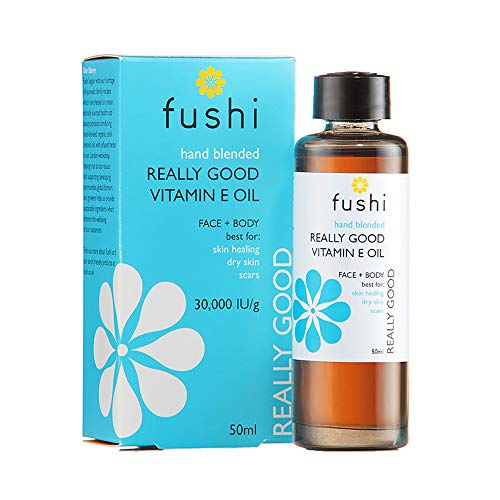 Fushi Really Good Vitamin E Skin Oil 50ml, 30000IU/G |Best for Skin soothing, Dry Skin, Wrinkles, Uneven Skin Tone, Scars | Plant Derived ɑ, ß, γ & d Tocopherols | Ethical, Vegan & Made in the UK