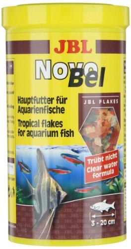 JBL NovoBel 30140 Alleinfutter für alle Aquarienfische, Flocken 1 l - 6