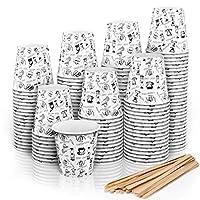 280 bicchierini caffe carta espresso 110 ml - bicchieri caffe carta con bastoncini in legno da portar via - qualità bicchieri carta caffè