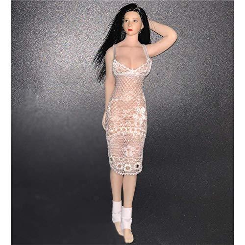 ZSMD 1/12 Scale Spitzenkleid Nachthemd Damen Kleid Action Puppe Kostüm für HT Verycool TTL Play Phicen a
