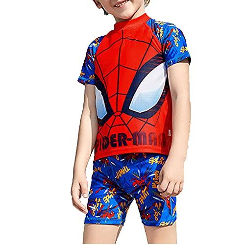 LQ-ZHUOJIAO Spiderman Maillot De Bain Summer Beach Costume De Natation Costume De Surf Un an À 9 Ans Enfants Shorty Combinaison Protection UV Sunsuit,Red-10 Size (110~120 cm 32~43 kg)