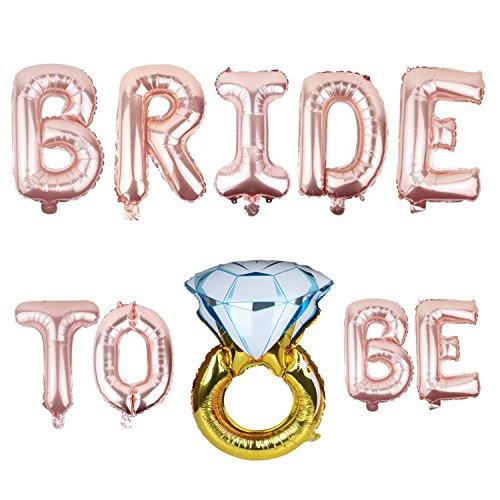 ZEEREE Bride to be Addio al Nubilato Palloncini Foil Bride Hen Party Sposa da Essere Balloons per Un Party Notturno di Gallina Confezione
