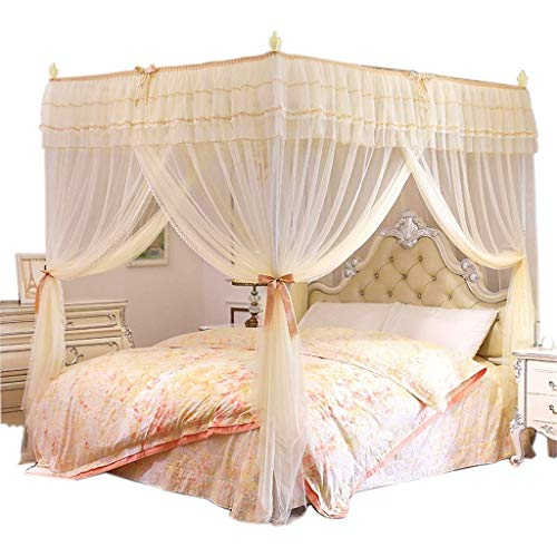 Great Price! EAHKGmh 4 Corner Bedding Curtain Canopy Mosquito Netting for Girls & Adults Bedroom Acc...