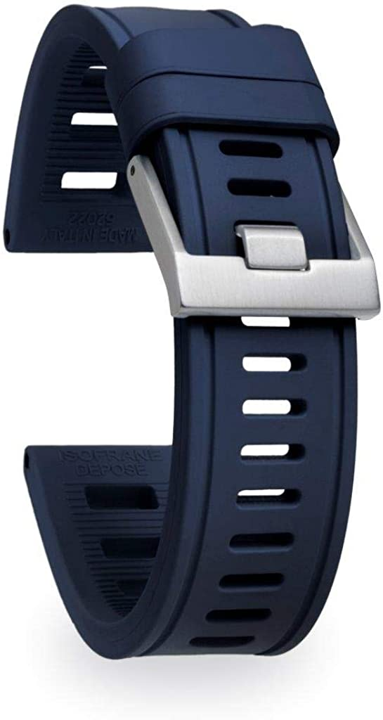isofrane Rubber Watch Strap 買い物 for Sports and B 即納 Dive 24mm Watches