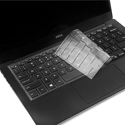 VFENG Keyboard Skins,Ultra Thin Soft Clear Keyboard Protector Cover for Dell XPS 13-9343 13-9350 13-9360 13.3-Inch Ultrabook Computer,US Layout