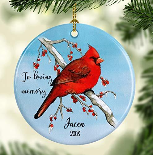 Memory Ornament for Christmas - Cardinal Ornament