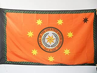 AZ FLAG Cherokee Indians Flag 3' x 5' for a Pole - Native American Tribe Flags 90 x 150 cm - Banner 3x5 ft with Hole