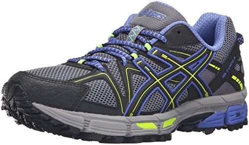 ASICS Women's Gel-Kahana 8 Trail Runner, Aluminum/Black/Flash Yellow, 9 M US