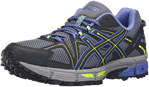 ASICS Women's Gel-Kahana 8 Trail Runner, Aluminum/Black/Flash Yellow, 6.5 M US