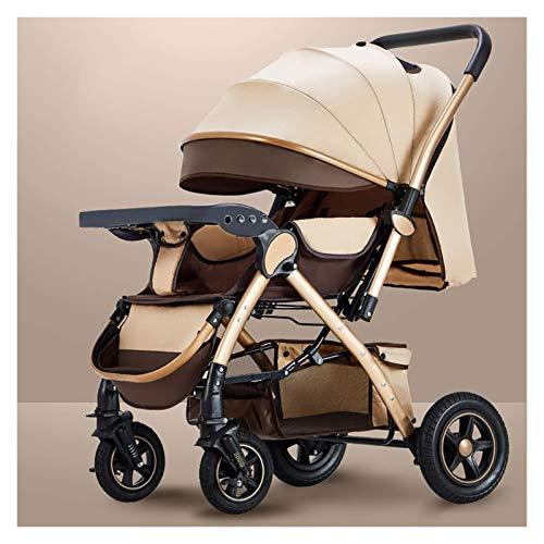 min min Cochecito de Cochecito de bebé para niños pequeños para niños pequeños Cochecito de Cochecito de bebé Resistente al bebé Resistente al bebé (Color : Gold)