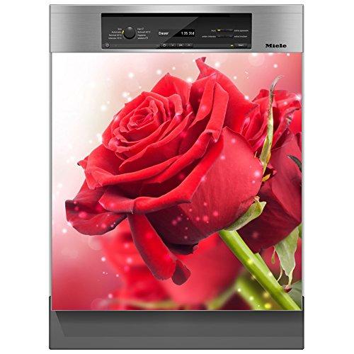 SHIRT-TO-GO Aufkleber für Spülmaschinen Geschirrspüler - Motiv Rose