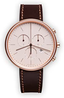 M40 Swiss Quartz Stainless Steel and Brown Leather Watch