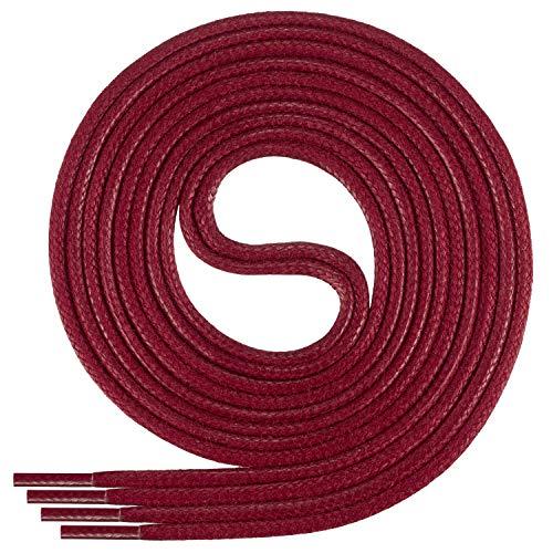 Di Ficchiano-SW-03-cherry-80 gewachste runde Schnürsenkel, Schuband, Laces, Durchmesser 2-4 mm für Businessschuhe, Anzugschuhe und Lederschuhe