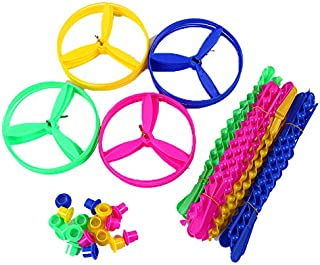 Hapy Shop 60 Sets Flying Discs,Plastic Twisty Flying Saucers Flying Disc for Party Favors,Assorted Color