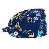 vssictor - cappello esfoliante in cotone da donna, regolabile, con fascia in felpa blu m